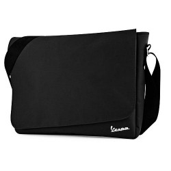 Vespa messenger bag zwart