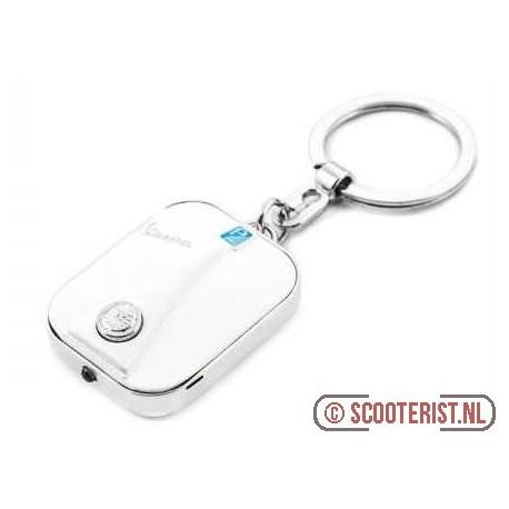 Sleutelhanger Vespa Beenschild LED wit