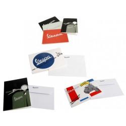 Vespa wenskaarten met envelop set van 6 verschillende