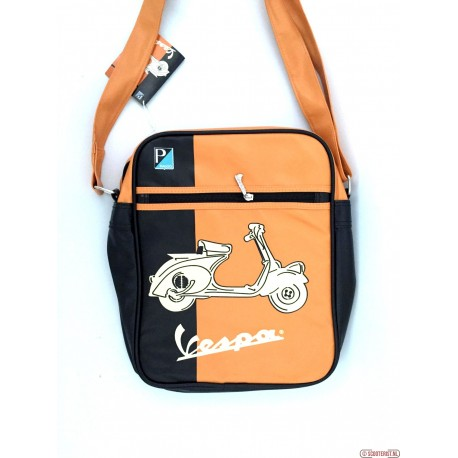 "Vespa schoudertas ""Duo colore scoot"" - beige-oranje-zwart - VPSB15"