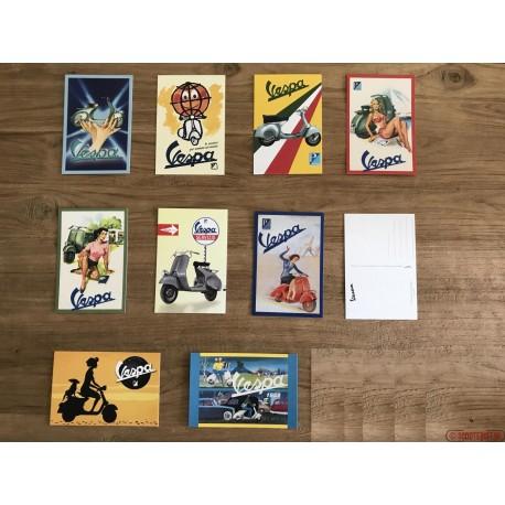 Vespa ansichtkaarten set van 10
