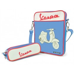 Vespa ipad / tablet tas / case blauw VPSD12