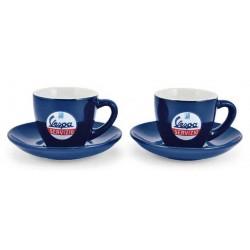 Vespa espresso set 2xkop/schotel servizio