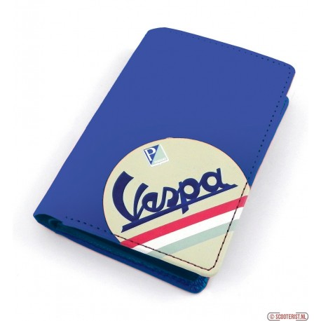 Vespa creditcard portefeuille blauw - VPRL21