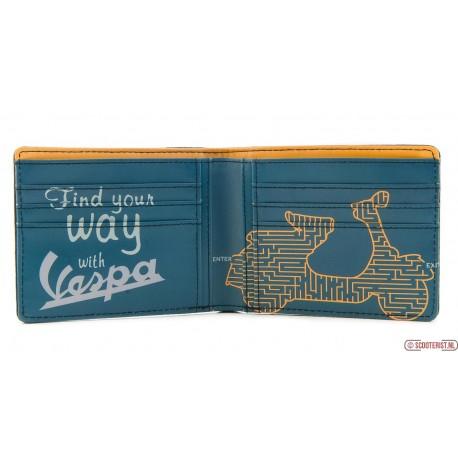 Vintage portemonnee met Vespa opdruk dagaanbieding